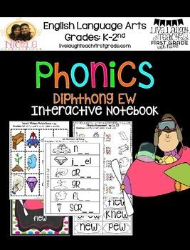 Phonics Interactive Notebook- ew