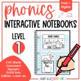 Phonics Interactive Notebooks - Level 1
