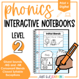 Phonics Interactive Notebooks - Level 2 | Print and Digital!