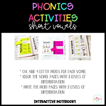 Phonics Interactive Notebooks: Short Vowels