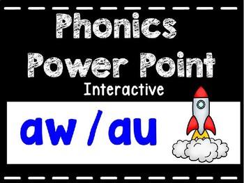 Phonics Interactive Power Point: au, aw