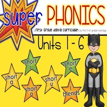 Phonics Interactive Powerpoint: Units 1-6 (short vowels and blends)