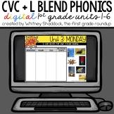 First Grade Phonics Digital Curriculum Units 1 to 6 BUNDLE