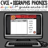 Phonics Interactive Powerpoint: Units 13-18 (CVCe, Ending Vowels, -ck, sh/ch)