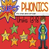 Phonics 1st Grade Digital Curriculum:Units 13-18(CVCe,Ending Vowels,-ck, sh/ch)