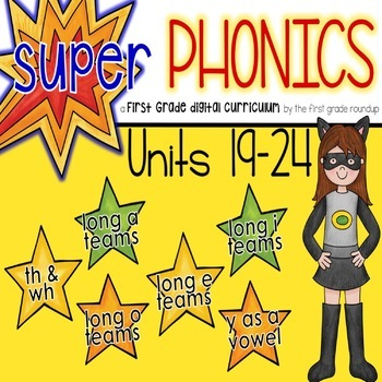 Phonics Curriculum, Interactive Powerpoint: Units 19-24 (th/wh, vowel teams)
