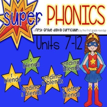 Phonics Interactive Powerpoint: Units 7-12 (Initial and En
