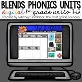 Phonics First Grade Digital Curriculum Units 7 to 12 BUNDLE