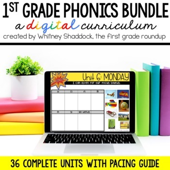 First Grade Phonics Digital Curriculum Units Year Long BUNDLE