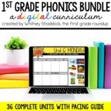 First Grade Phonics Digital Curriculum Units Year Long BUNDLE