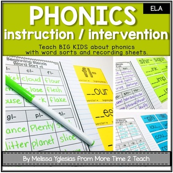 Phonics Interactive Unit {Word Sorts and Recording Sheets}