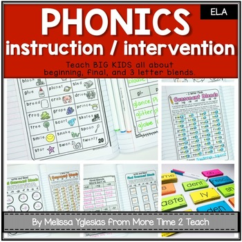 Phonics Interactive Unit {for Beginning, Final, and 3 Letter Blends}