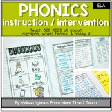Phonics Interactive Unit {for Digraphs, Vowel Teams, & Bossy R