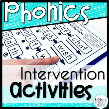 Phonics Intervention Activities and Reference Pages Binder