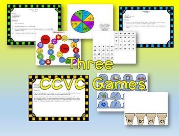 Phonics Intervention Bundle -- CCVC Words (Blends & Diagraphs)
