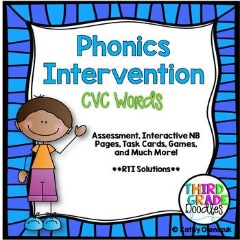 Phonics Intervention Bundle -- CVC Words