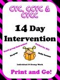 RTI Phonics Intervention CVC, CCVC, CVCC 14 Day Lessons, Games, Centers