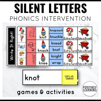 Phonics Intervention Games Silent Letters KN GN WR MB