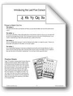 Phonics: Introducing J, K, Y, Q, and X
