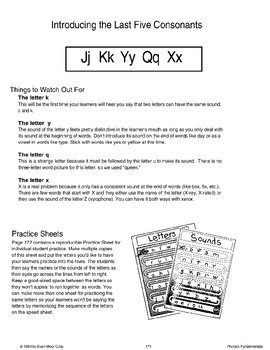 Phonics: Introducing J, K, Y, Q, and X