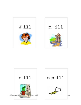 Phonics:  Jack and Jill Are Not Ill