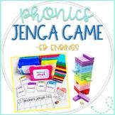 Phonics Jenga Games Language Arts for -ed ending