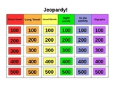 Phonics Jeopardy