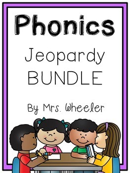 First Grade Phonics: Jeopardy Bundle
