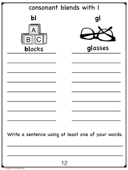 Phonics Journal for Beginning Readers
