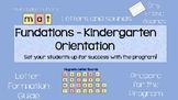 Kindergarten Phonics Lesson Plans - Orientation
