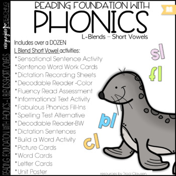 Phonics - L blends with short vowels - Reading Foundation with Phonics