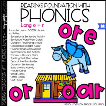 Phonics - LONG O + R - Reading Foundational Skills (oar, ore, or)