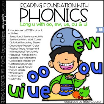 Phonics - LONG U vowel pairs - Reading Foundation with Phonics