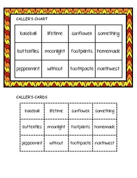Phonics Ladders - Compound Words