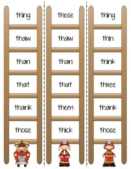 Phonics Ladders - Consonant Digraphs