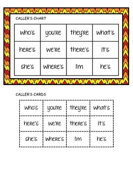 Phonics Ladders - Contractions