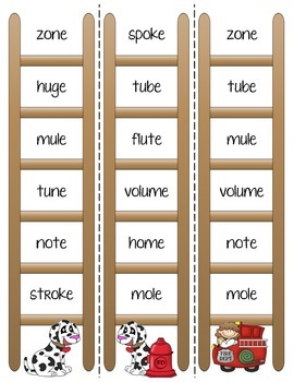 Phonics Ladders - Long Vowel Sneaky E