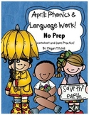 Phonics & Language NO PREP-Word Work-April