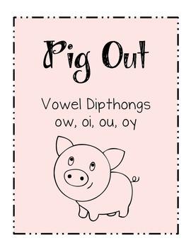 ELA Phonics Center - Vowel Diphthongs - File Folder Game