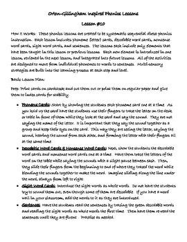 Phonics Lesson #10