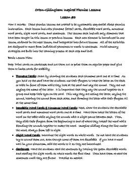 Phonics Lesson #3