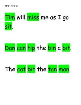 Phonics Lesson #8