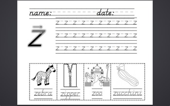 Phonics Lesson Plans and Work for b, j, z, w, v, y, x, q
