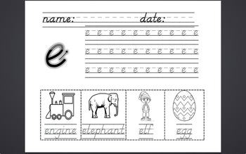 Phonics Lesson Plans and Work for c, k, e, h, r, m