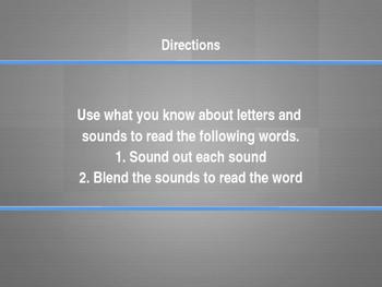 Phonics Lesson, Short e