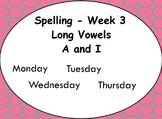 Phonics Lesson Week 3: Long Vowels A and I
