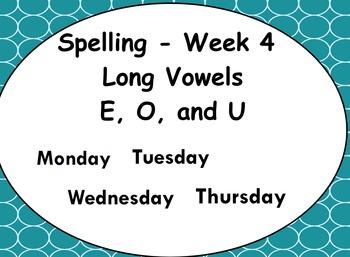 Phonics Lesson Week 4: Long Vowels E, O, and U