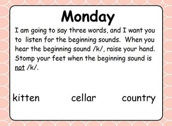 Phonics Lesson Week 5: Hard and Soft C