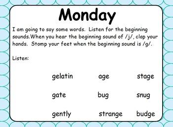 Phonics Lesson Week 6 - Hard and Soft G
