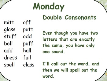 Phonics Lesson Week 7: Double Consonants